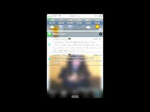 New iPhone 4S iOS 5-5.0.1 Tweak Clear Notification Background Wallpaper