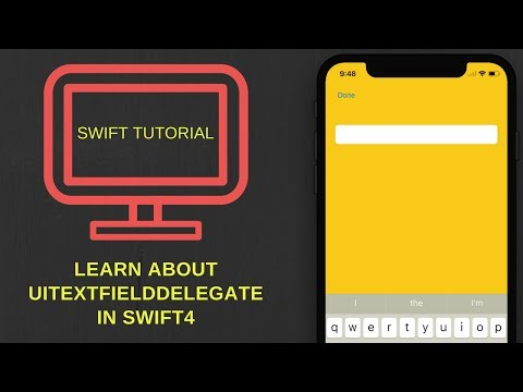 How to use UITextFieldDelegates in swift 4