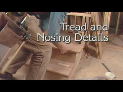 How to attach stair treads to stringers nosing details