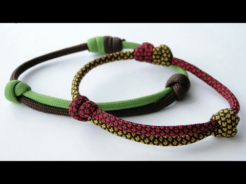Make the Sliding Knot Two Color Paracord Friendship Bracelet – CbyS Paracord