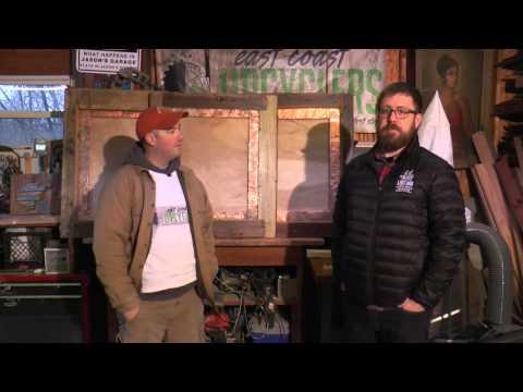 East Coast Upcyclers Deliver Barnwood Frames to Lost Ark Distilling.