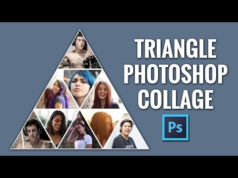 Triangle Photoshop Collage Pyramid Photo Template Tutorial