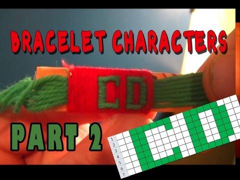 All Cotton Yarn Bracelet Characters Part 2: C & D