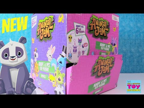 Animal Jam Adopt A Pet Clip Plushie Blind Bag Series 1 Toy Review | PSToyReviews