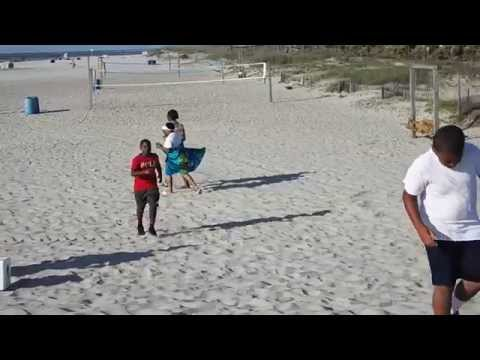 Coach Johnson Trains on Beach Run with Benard, Rooster & Lester