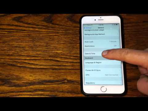 How to Edit The Auto Correct Dictionary in an  iPhone
