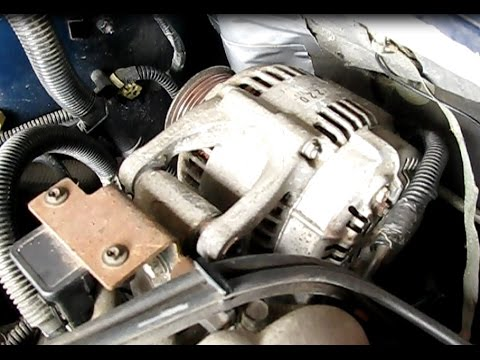 How to replace the alternator in a 3.0L Caravan, Voyager or Town and Country