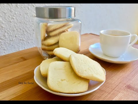 No Oven, No Egg Butter Cookies | 3 Ingredients Cookies | Butter Cookies Without Oven