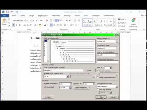 MS Word 2013 - Headline formatting and numbering