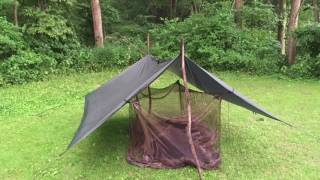 Aframe 3x3 Dd Tarp Shelter With Bugnet
