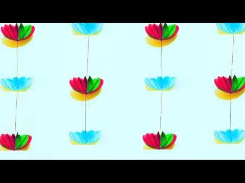 Paper flower garland for home decoration | DIY wall Decoration ideas | Jhalar | Door decor Toran
