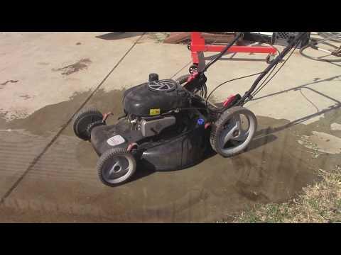 Trash find Craftsman Mower Runs Well!