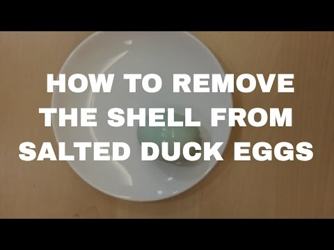 How to Remove the Shell of Salted Duck Eggs