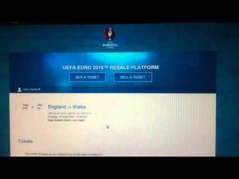Wales v England Euro 2016 UEFA Ticket Portal (Refresh)