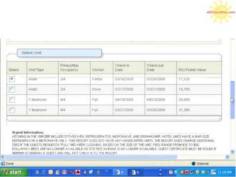 How To Make a RCI Points Reservation Timeshare eMidsouth Inc  Wholesaletimeshare.com