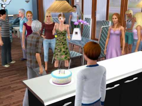 The Sims 3 - Birthday Cake Sets On Fire! XD