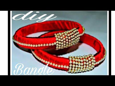 Diy how to make silk thread bangle at home | kada | kangan |