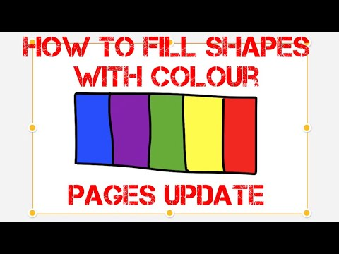 How to fill shapes with colour in pages