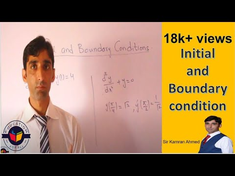 Initial and Boundary condition