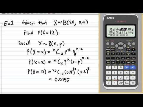Binomial Distribution with CASIO fx 991 EX