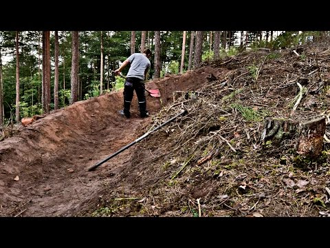 Trail building timelapse 4 - sand berm