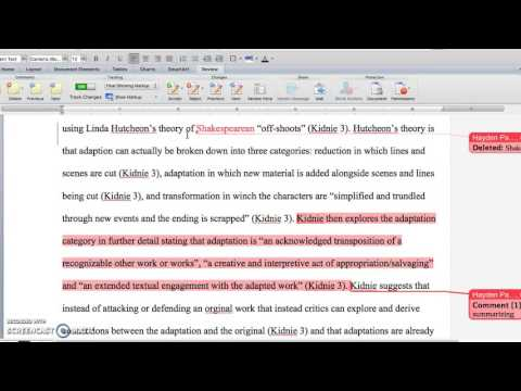 How to proofread/edit/ mark papers in MS Word