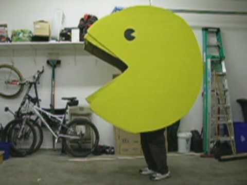 PacMan costume completed with working mouth