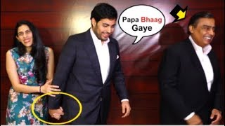 Akash Ambani And WIFE Shloka Ambani Look CUTE Walking Hand-In-Hand In Front Of Father Mukesh Ambani