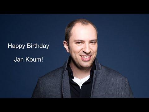 Jan Koum Birthday Video Greeting | Inviter.com