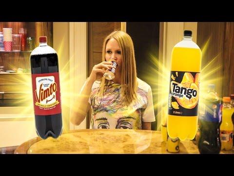 AMERICAN GIRL TRIES BRITISH SODAS IN LONDON !!