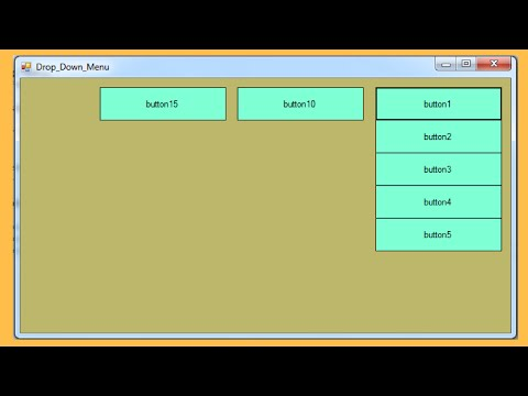 C# - How to Create a Drop Down Menu in C#  [ with source code ]
