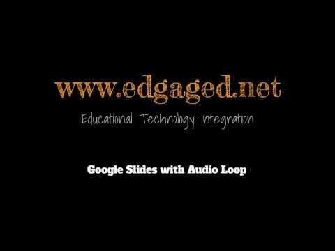 Google Slides Audio Loop