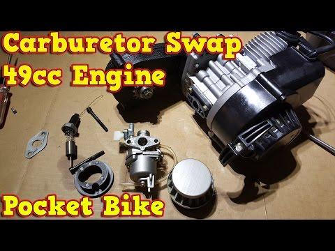 Carburetor Swap - Instructions - in 49cc Pocket Bike Engine