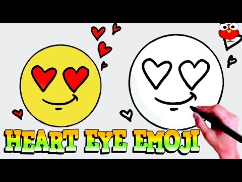 how to draw heart eyes emoji for kids step by step for kids easy tutorial