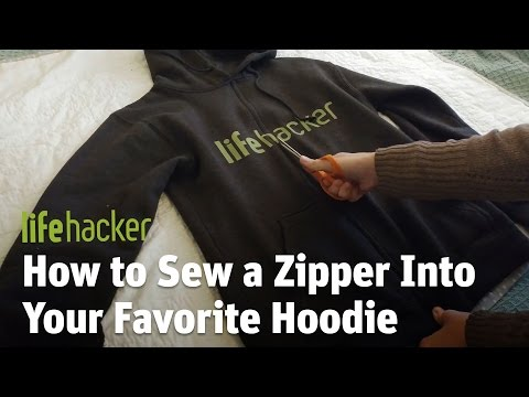 How to Sew a Zipper Into Your  Favorite Hoodie