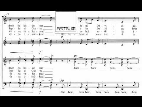 Maksimiljan Feguš arr.: Zornični zvonovi vabijo / Matin's Bells Are Inviting - for SATB div