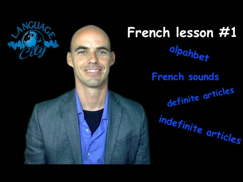 French lesson #1 for beginners: French alphabet / French sounds / Definite & indefinite articles
