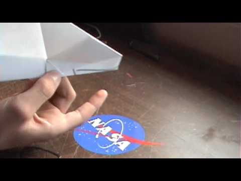 How To make a Paper Airplane with a kf airfoil (kf-1)