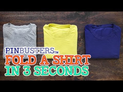 How To Fold a Shirt in 3 Seconds // IS IT REALLY THAT EASY?