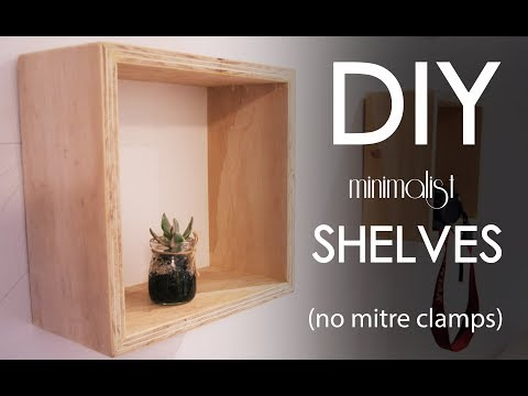 Make minimalist shelves out of plywood and MDF