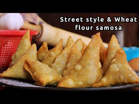100% Whole wheat samosas and street style samosa -Onion Samosa - Samosa recipe - How to make samosa