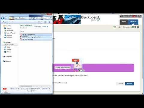 Uploading and overwriting files in Blackboard's Files using Drag and Drop