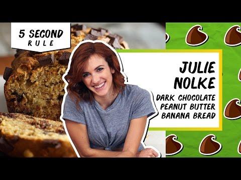 Dark Chocolate Peanut Butter Banana Bread l 5 Second Rule with Julie Nolke