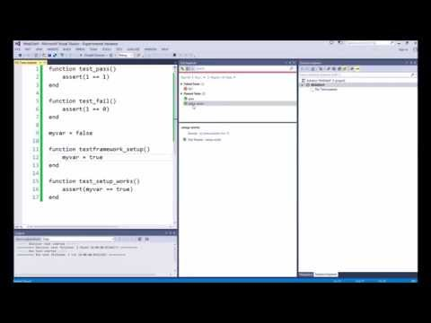Lua Test Adapter and Framework for Visual Studio