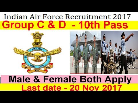 Indian Air Force Recruitment 10th Pass for All India Female & Male #Air Force
