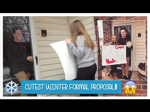 CUTEST WINTER FORMAL PROPOSAL!!