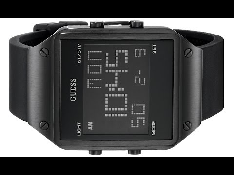 GUESS Men's U0595G1 Square Digital Watch