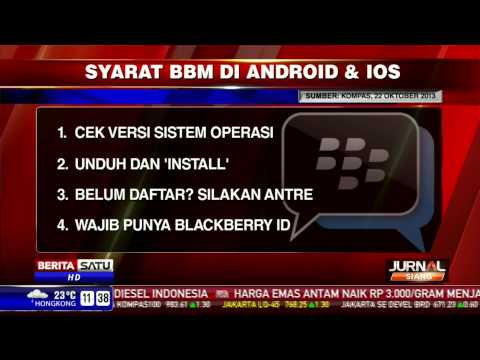 Syarat Menggunakan BBM di iOS dan Android