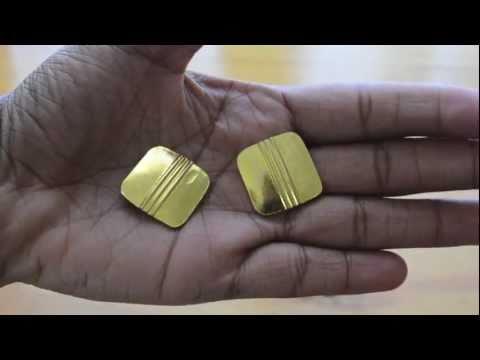 DIY: Button Earrings
