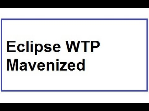 Creating Dynamic Web Project in Eclipse using Maven